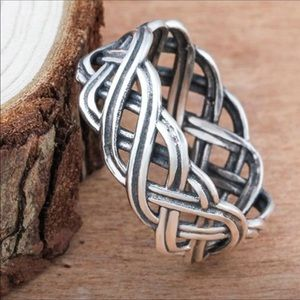 Sterling Silver Celtic woven band ring